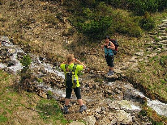 Znów przecinamy potok spływający do Doliny Jarząbczej.