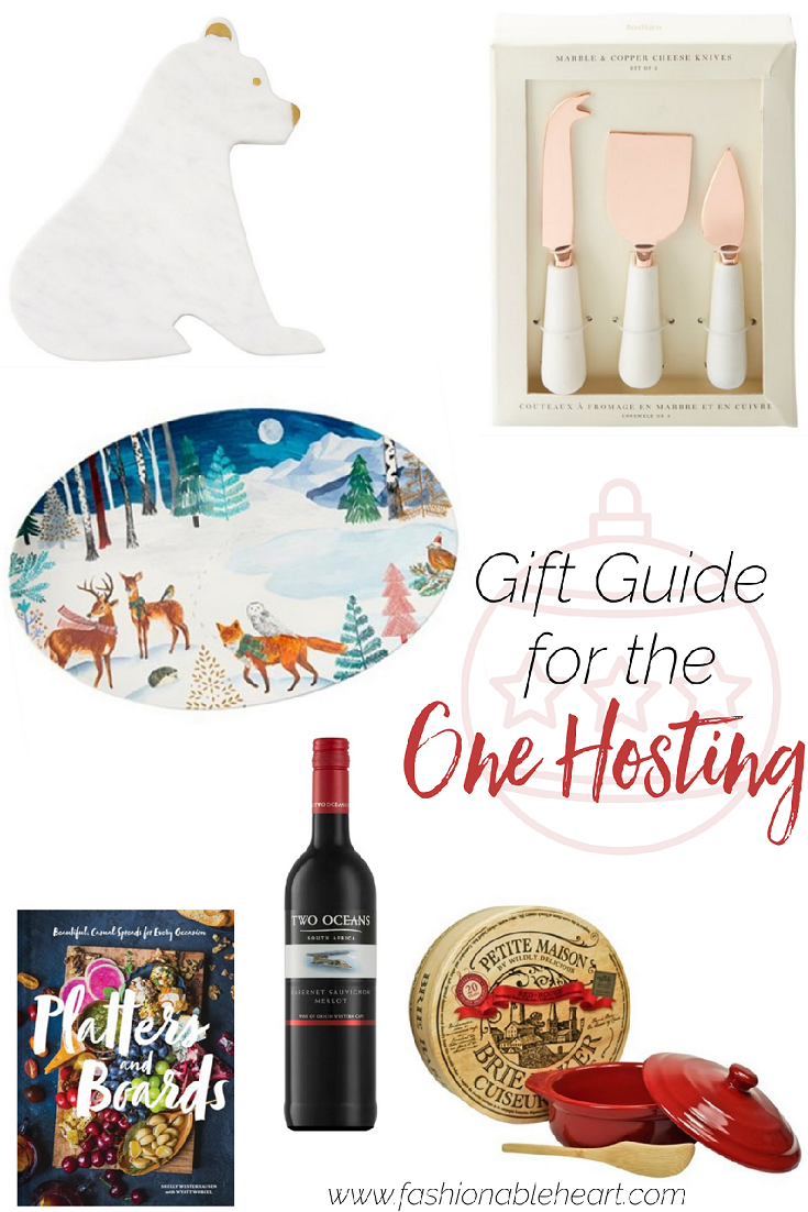 bbloggers, lbloggers, lifestyle blog, southern blogger, canadian blog, holiday, christmas, gift guide, 2019, for the host, hostess, hosting, party, parties, chapters indigo, two oceans wine, book, brie baker, marble tray, platter, cheese knives, hostess gifts, for the one hosting, host gifts