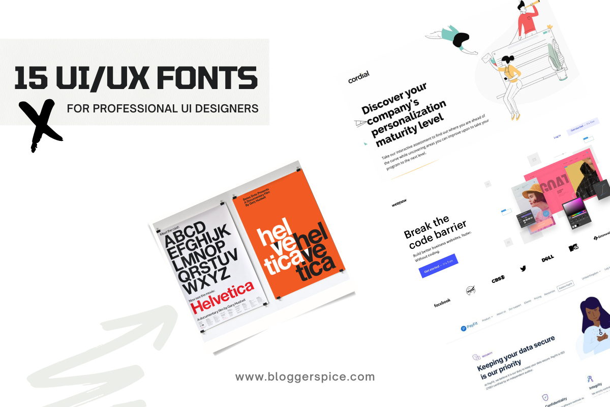 Top 15 Free UI Fonts for Blogger To improve Blog Content readability
