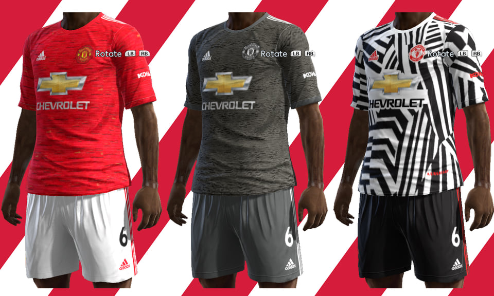 ultigamerz pes 2013 manchester united 2020 21 home away third kits pes 2013 manchester united 2020 21 home