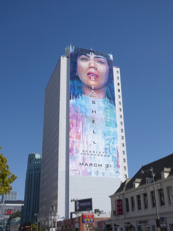 Giant Ghost in the Shell movie billboard