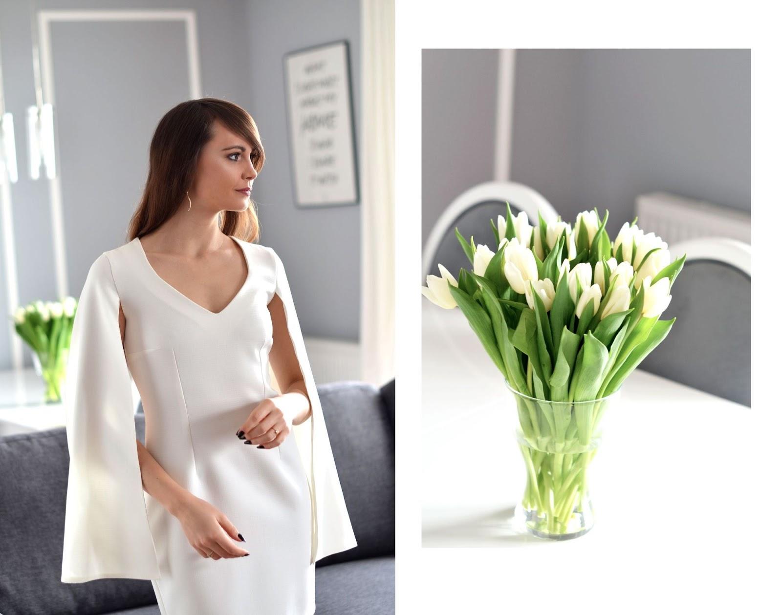 biala sukienka | prezent na walentynki dla kobiety
