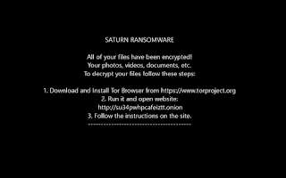 Saturn Ransomware