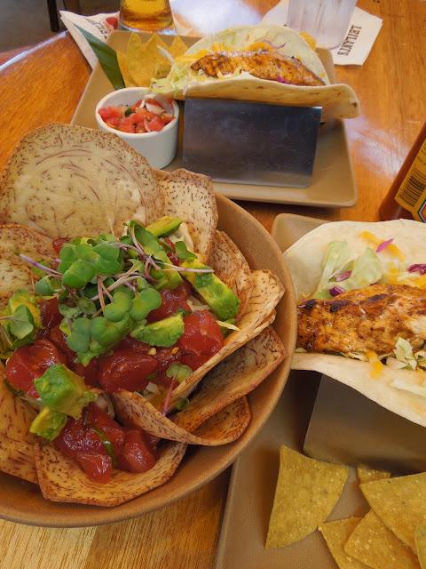 poke and fish tacos
