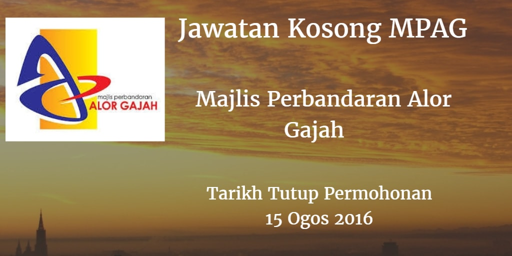 Jawatan Kosong MPAG 15 Ogos 2016