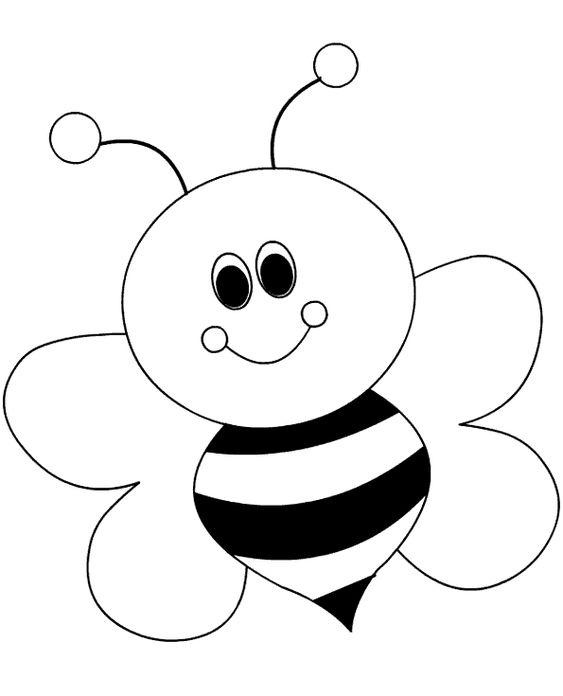 Hình tô màu con ong cho bé mầm non