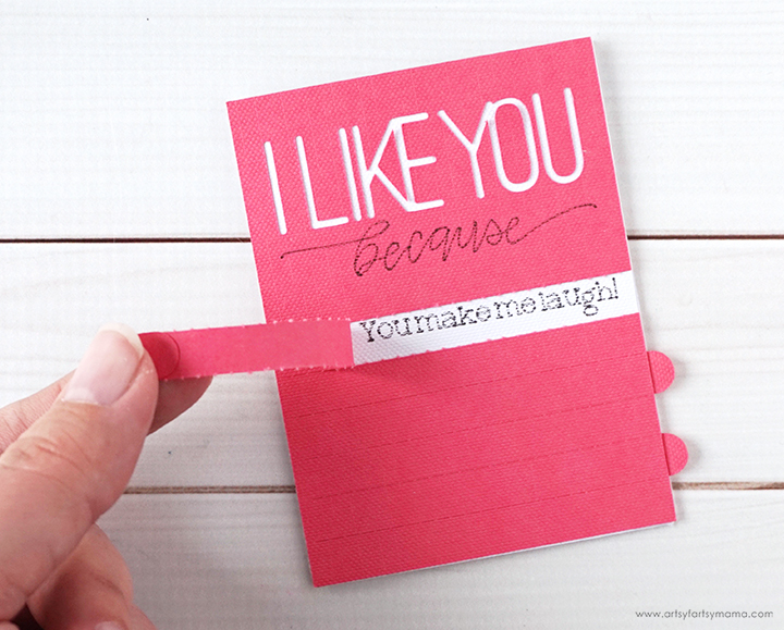 I Like You Because... Valentine Card