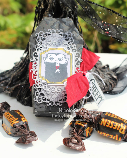 6 Days of Halloween blog series - Coffin Treat Box by Nicole Steele The Joyful Stamper