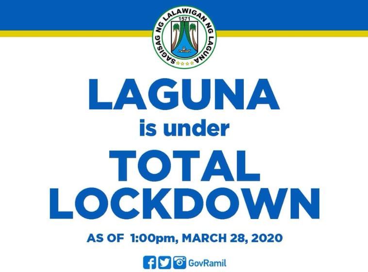 Laguna total lockdown COVID-19