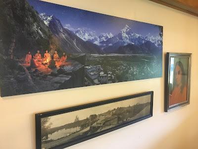 spiritual art, srf, self-realization poster, painting, gurus