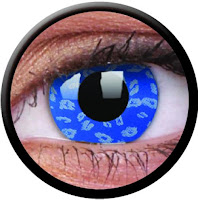 Halloween blue contact lense