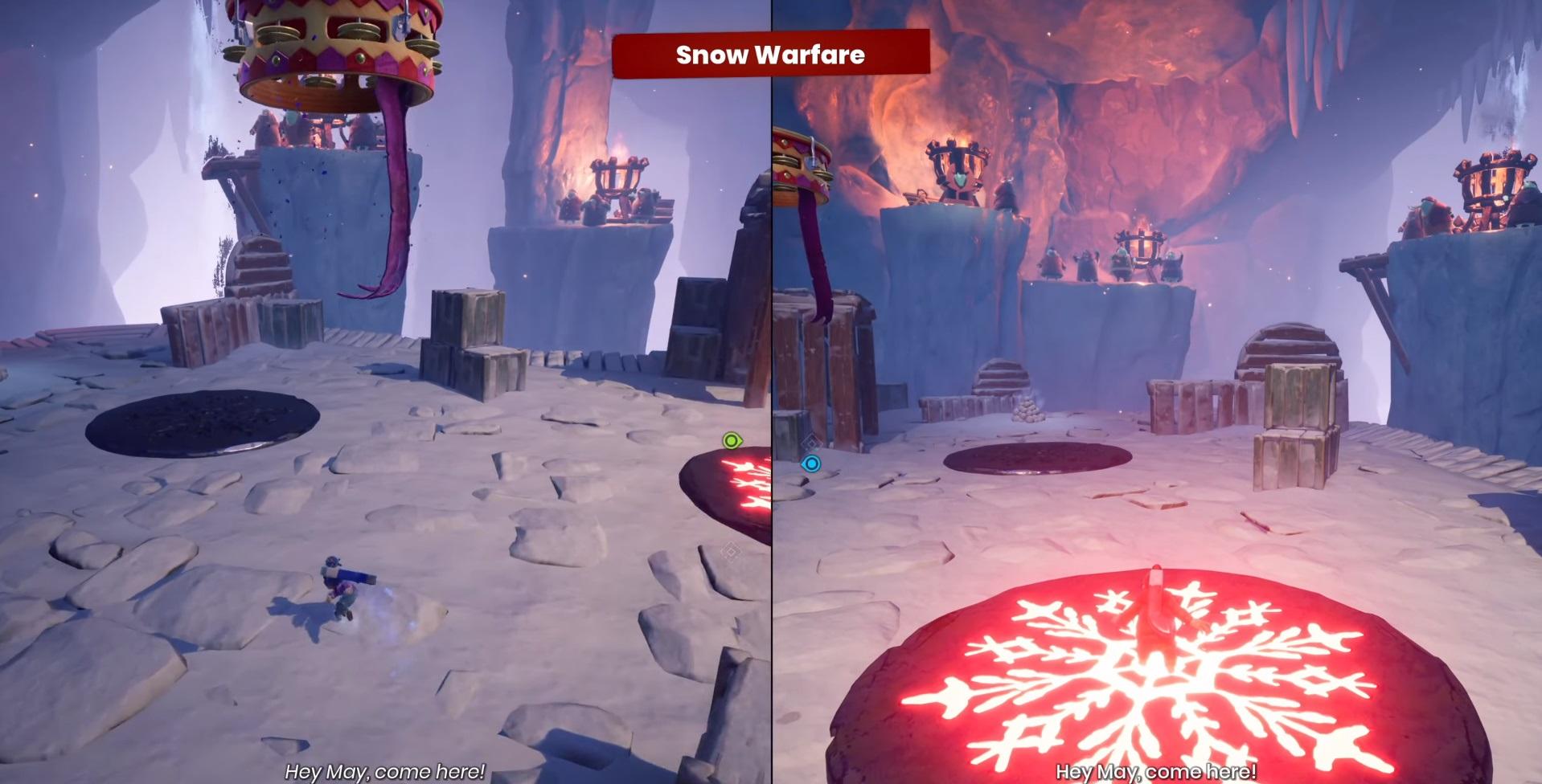 """Mini-game №16 """"Snow Conflict"""""""