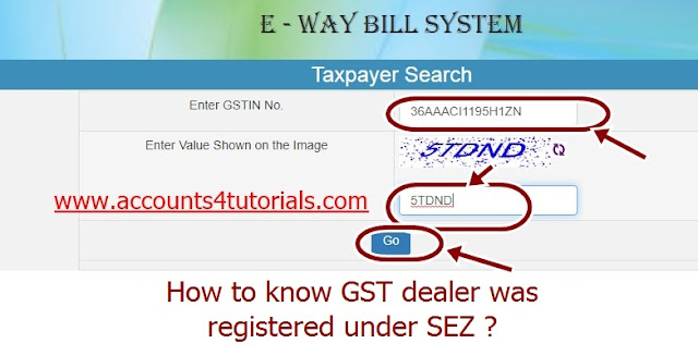 sez gst details, how to check sez gst, sez registration under gst, sez status in gst, e way bill in sez, sez dealer in gst, sez full form
