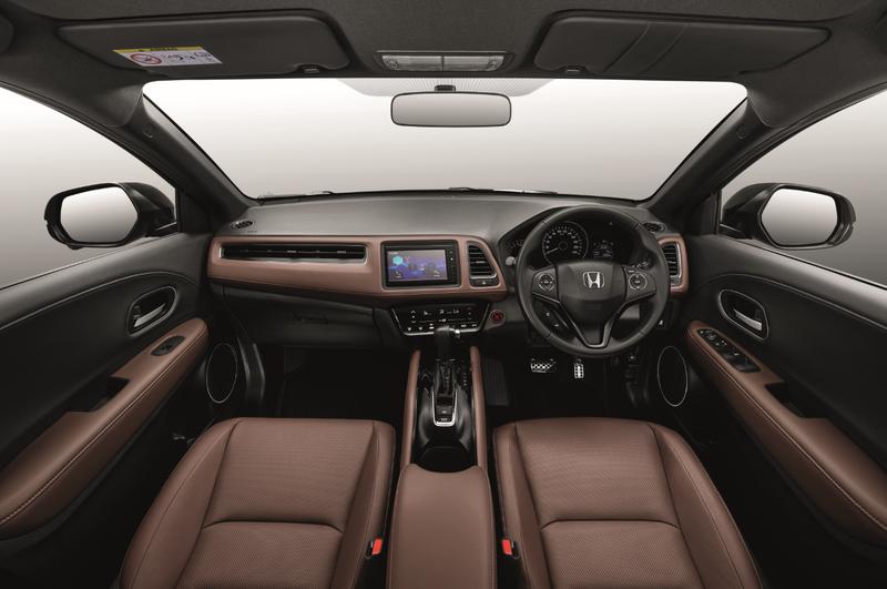 Honda HR-V RS được trang bị gói nội thất bọc da nâu bắt mắt