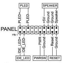 Motherboard front panel connections diagram