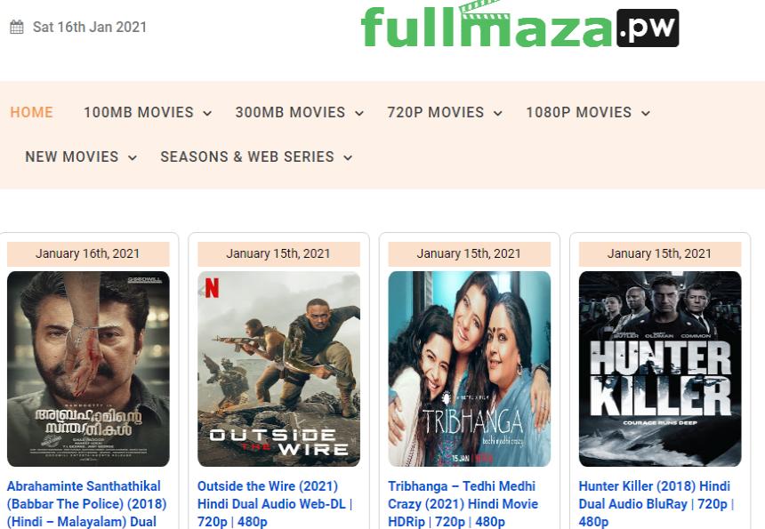 Fullmaza 2021 - Full Maza .org Piracy Website Link Download 100MB Movies, 300MB Movies, 720P Movies, 1080P Movies, New Movies, Web Series News About FullMaza