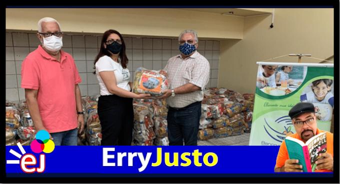 CARAVANA SOLIDÁRIA: FUNDAÇÃO LAR FELIZ EM JUAZEIRO RECEBE 200 CESTAS BÁSICAS