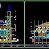 مخطط مشروع مسجد على طريقة الاسيوية بعدة طوابق اوتوكاد dwg