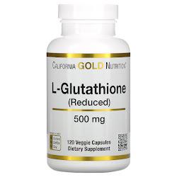 California Gold Nutrition, L-глутатион (восстановленный), 500 мг, 120 растительных капсул