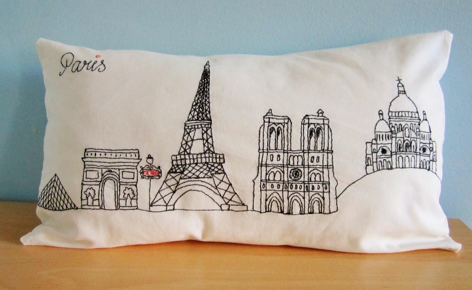 Emily Kate Makes...: Paris Skyline Pillow