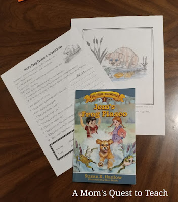 Jem's Frog Fiasco book cover and study guide questions