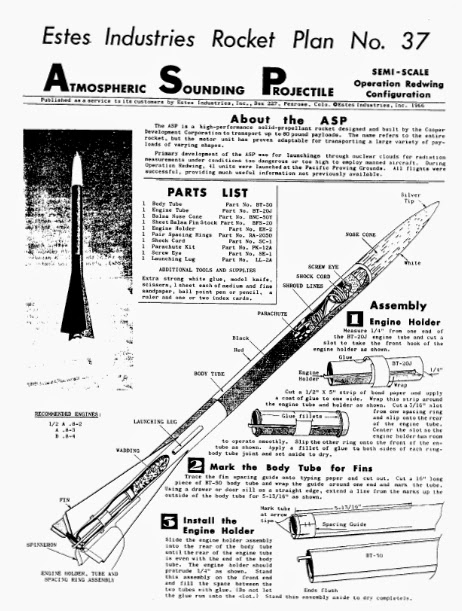 Model Rocket Building: Downscale Carded A.S.P. Part 1
