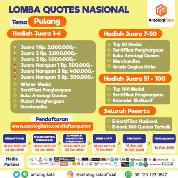 Lomba Quotes Nasional ( LOQUNAS ) 2019 oleh Antologi Kata