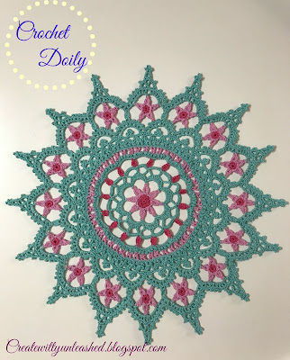 Falling for the stars crochet doily