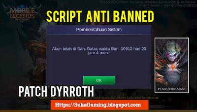 Script Membuka Akun Yang Kena Banned Oleh Mobile Legends Patch Terbaru
