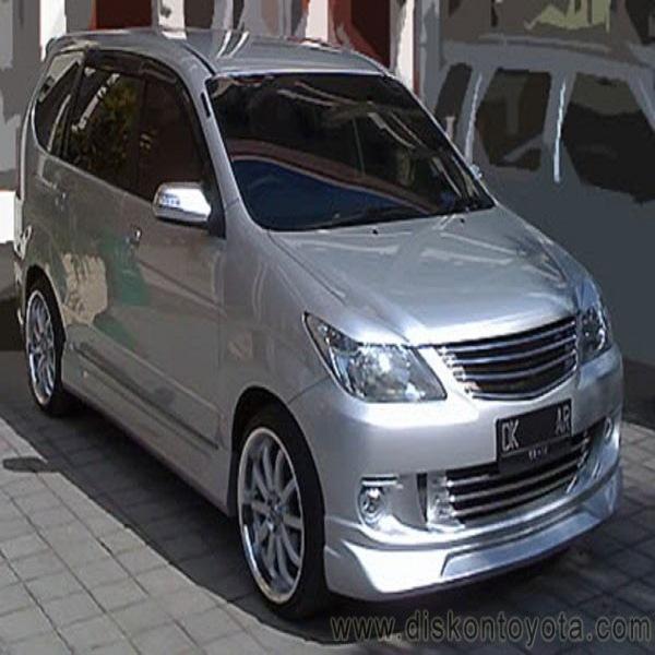 Gambar Modifikasi Mobil Avanza Terbaru Tipe G Veloz Warna Hitam Dan Silver