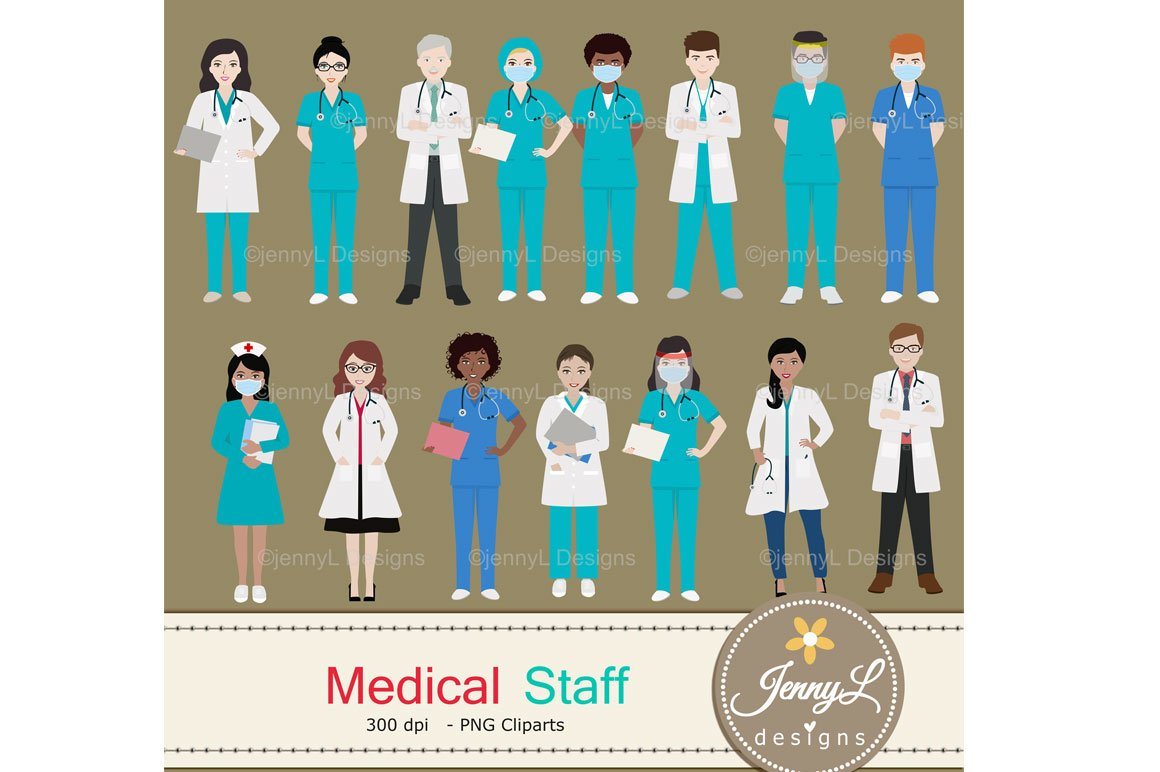Medical Staff Doctor Digital Papers and Stethoscope Clipart (PNG, JPG) - Ngcloudy.com