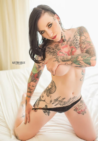 Jeselyn's piece, The Badass Tattooed Babe With Anal Ink!
