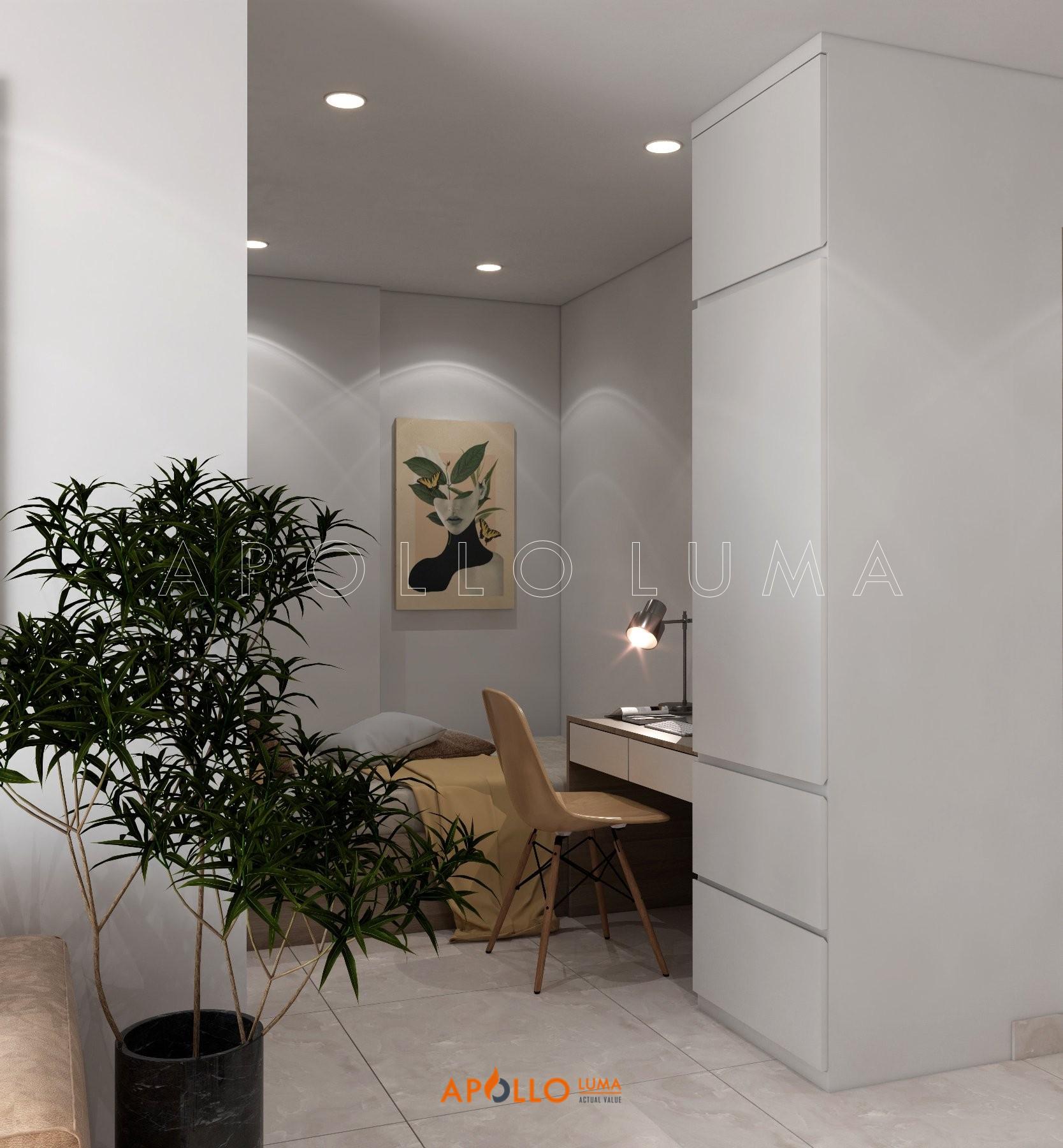 Thiết kế nội thất căn hộ 1PN+1 (43m2) S2.19-01 Vinhomes Ocean Park