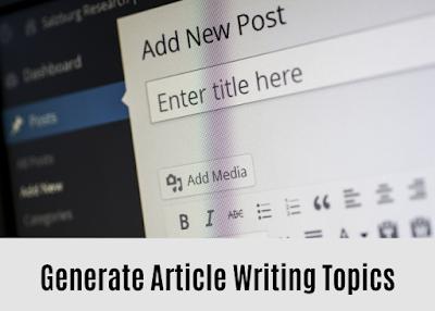 Article Writing Topics