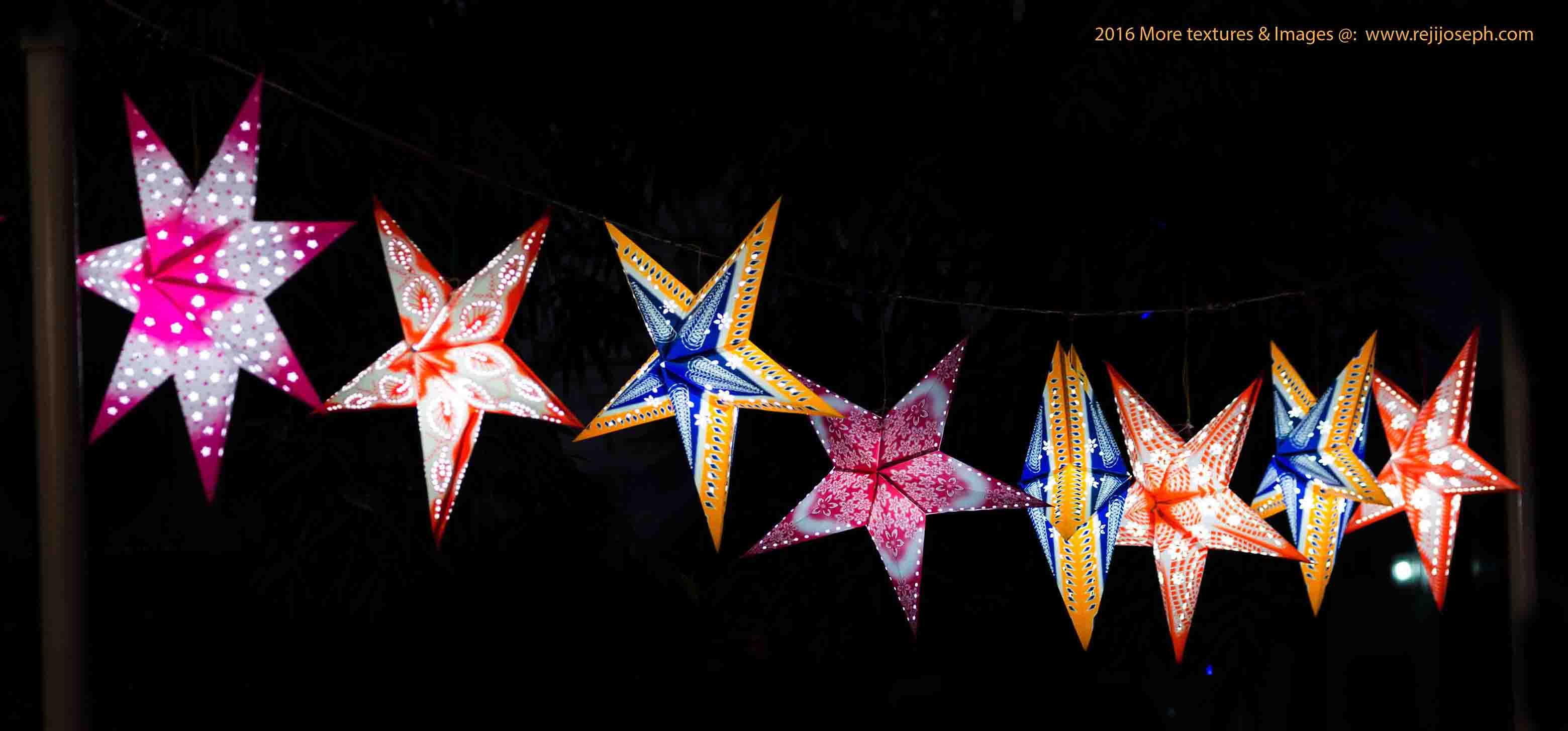 Christmas star Illumination light decoration 00008
