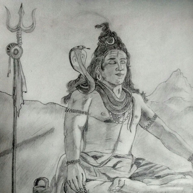Lord Shiva Pencil Sketch Images Download