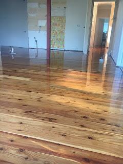 Sanding and restoring original cypress pine flooring