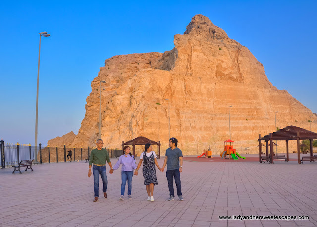 family in Jebel Hafeet in Al Ain