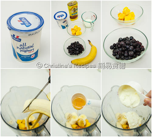How To Make Mango Blueberry Smoothie