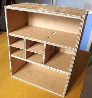 mueble resistente de carton