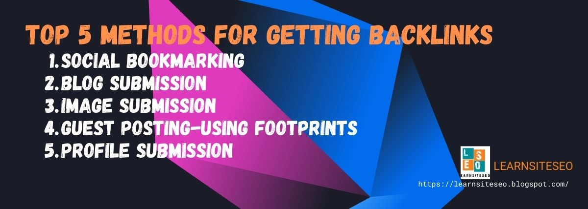 top 5 methods for getting backlinks
