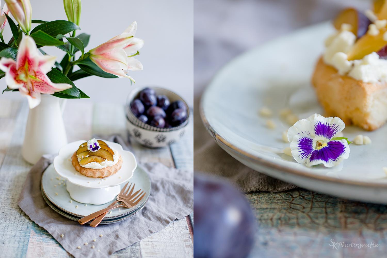 Kleine Zwetschgen-Tartelettes mit Vanillesahne   Alles und