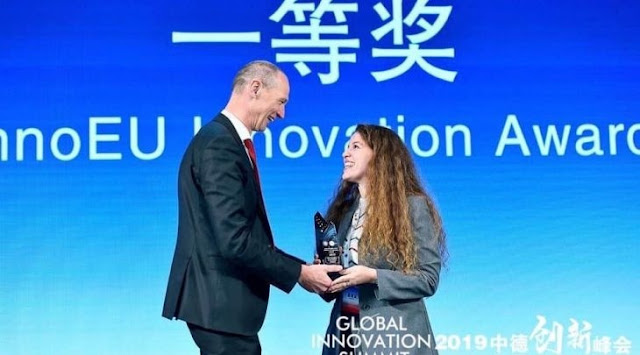 The Albanian Serena Leka wins first prize at Global Innovation Summit