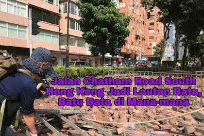 Jalan Chatham Road South Hong Kong Jadi Lautan Bata, Batu Bata di Mana-mana