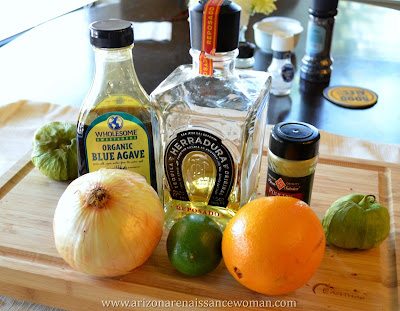 Ingredients for Slow-Cooker Margarita Chicken Tacos