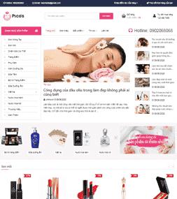 Giao diện blog bán hàng Son môi nước hoa mỹ phẩm