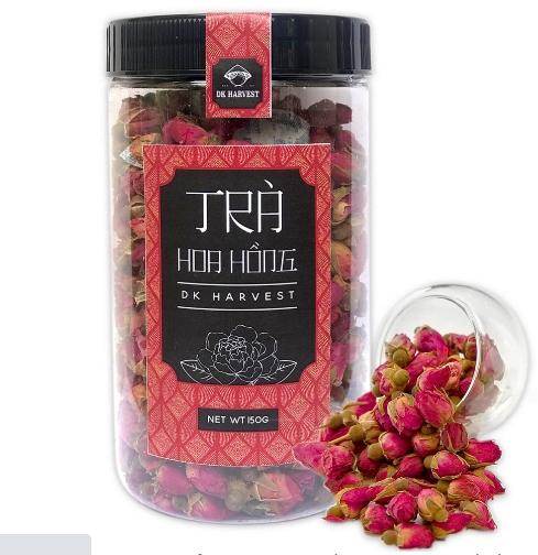 Trà Hoa Hồng Sấy Khô Nguyên Bông DK Harvest àn toàn cho sức khỏe