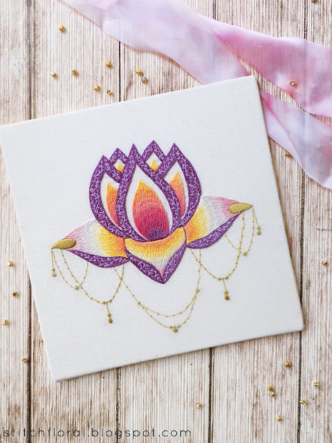 Boho hand embroidery pattern