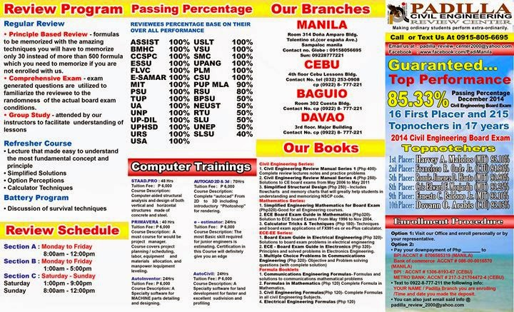 Philippine civil engineering review tips and guides october 2013 latest brochures fandeluxe Images