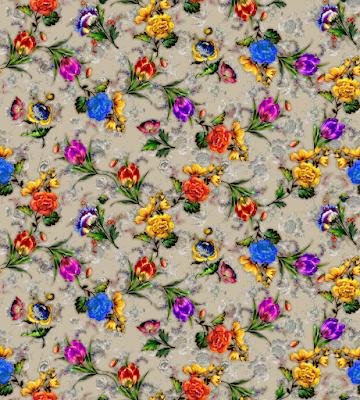flower textile repeat 7052